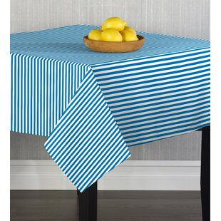Caius Turquoise Small Stripes Table Cloth