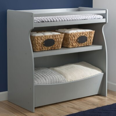 2-in-1 Changing Table And Storage Unit By Delta Color: Gray