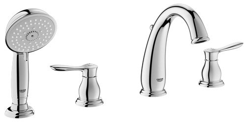 Grohe Parkfield Deck Mounted Roman Tub Faucet with Handshower ...