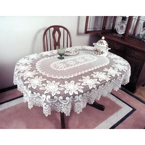 Nice Fausto Rose Oval Tablecloth