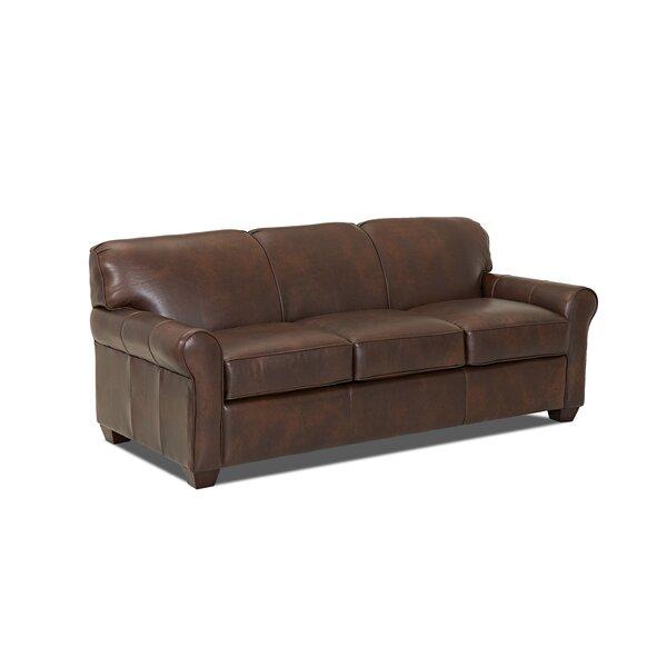 wayfair custom upholstery™ jennifer leather sleeper sofa & reviews
