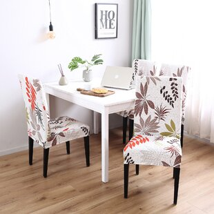 Elegant Box Cushion Dining Chair Slipcover Set Of 4