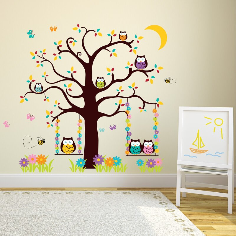 Gentil Owl Tree Wall Decal
