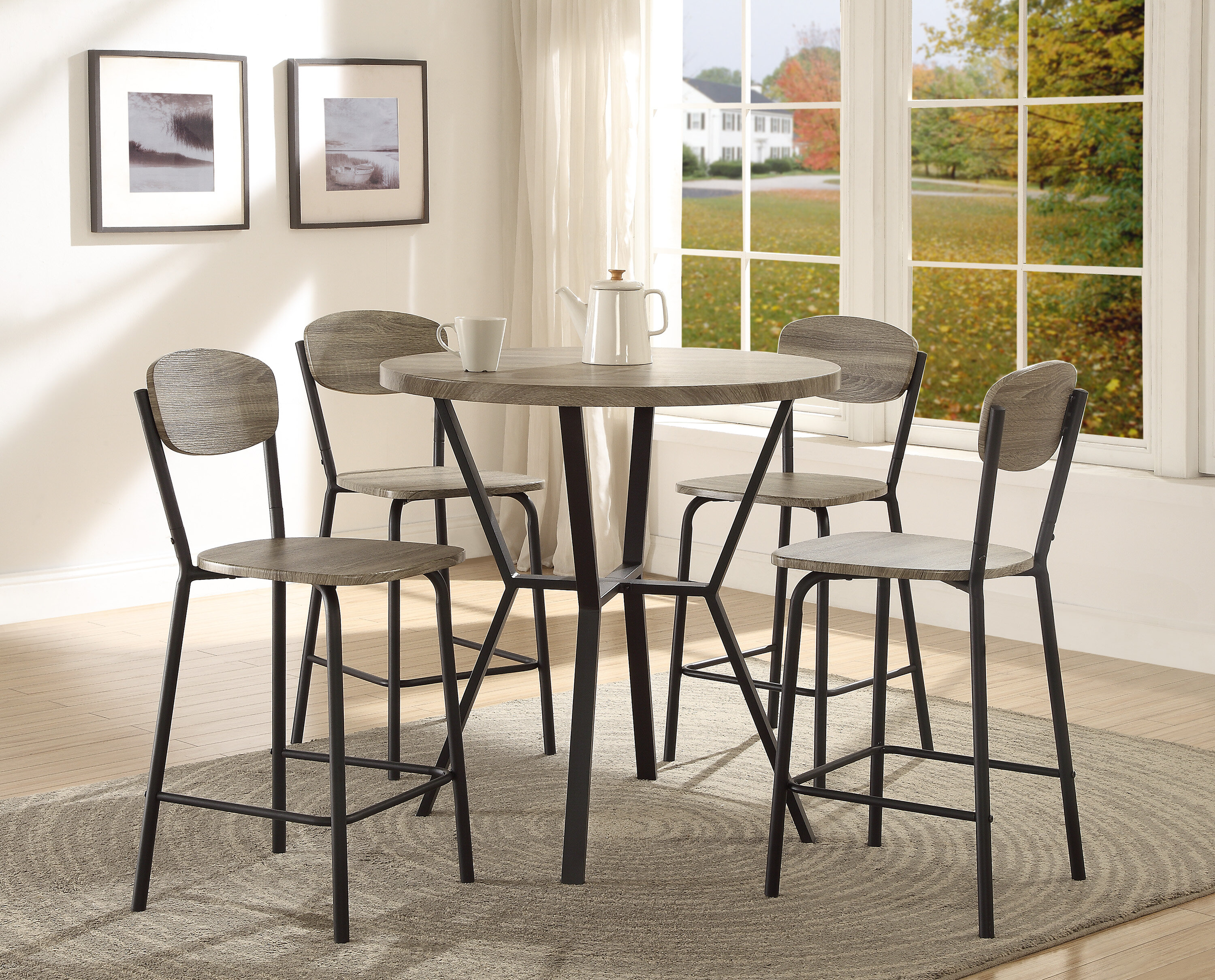 crown mark blake 5 piece counter height dining set & reviews | wayfair