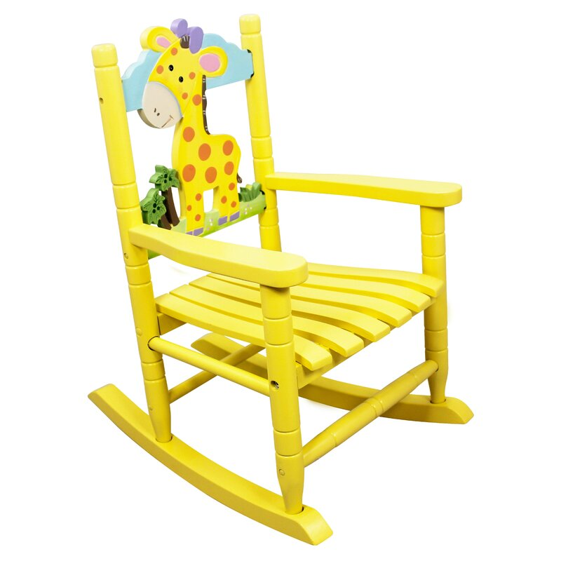 animal inspiration kids rocking chair