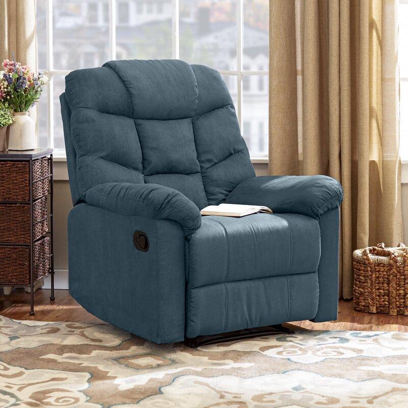 Comfortable Recliner Chairs andover mills gertrude manual wall hugger recliner & reviews | wayfair
