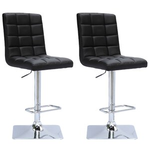 Martins Adjustable Height Swivel Bar Stool (Set of 2) by Wade Logan