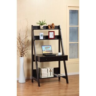leaning ladder desks you ll love wayfair rh wayfair com Ladder Bookshelf with Desk Ladder Bookshelf with Desk