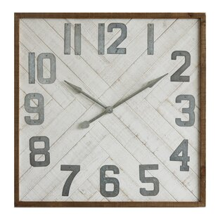 Oversized Louie Square Wood Wall Clock