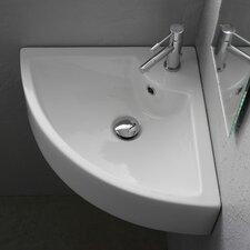 18 5 Corner Bathroom Sink With Overflow