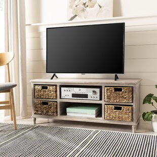 White Tv Stand With Baskets Wayfair