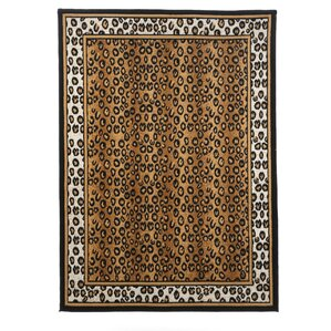 kaly leopard brown area rug