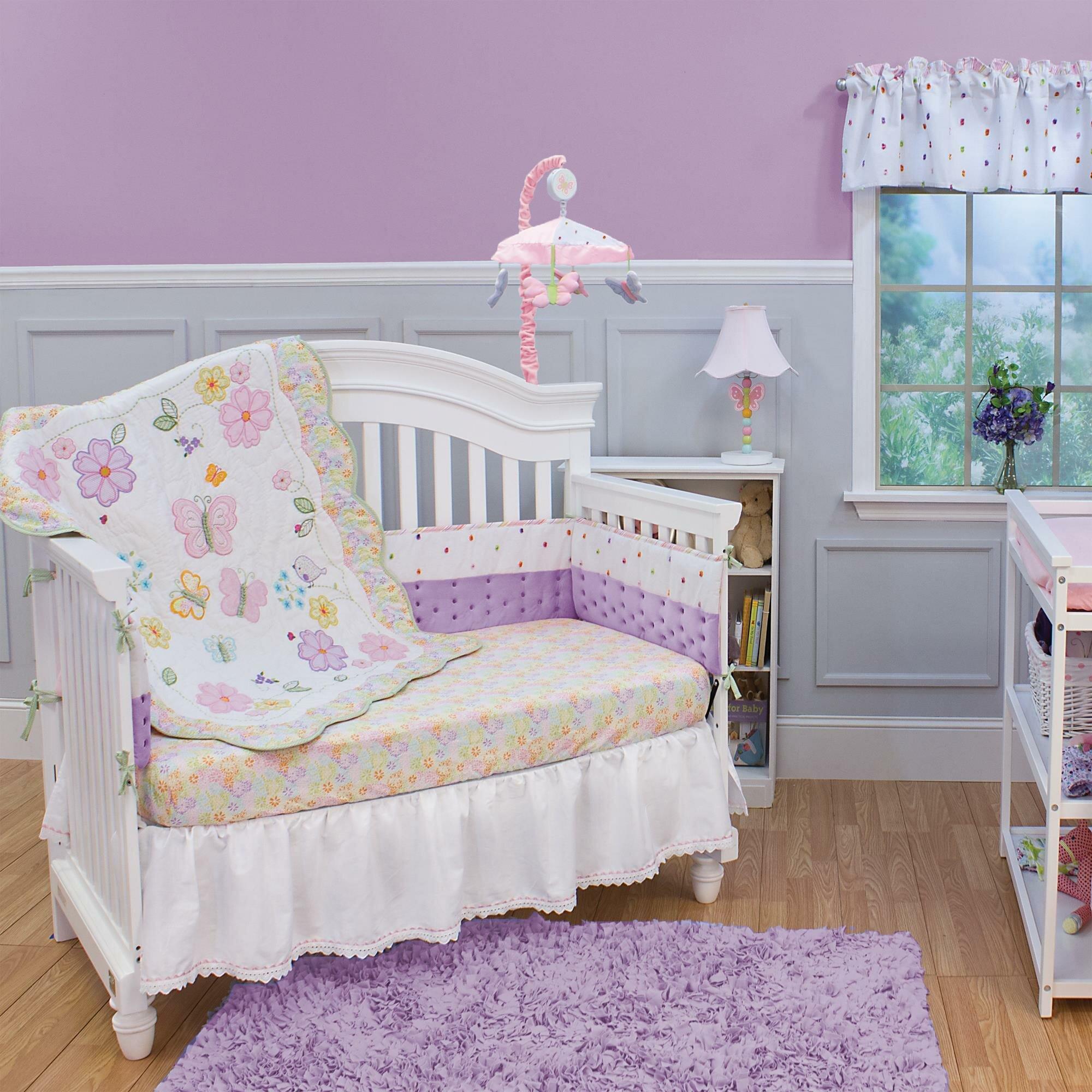 Nurture Imagination Butterfly Garden 3 Piece Crib Bedding Set U0026 Reviews |  Wayfair