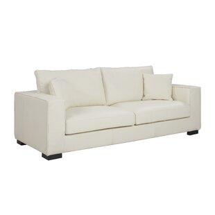 Leka Large Modern Top Grain Leather Sofa