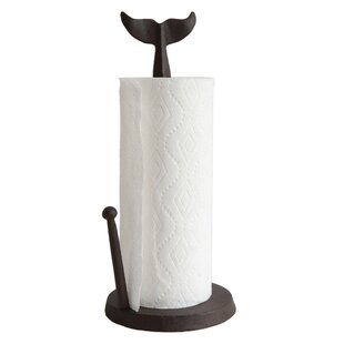 Cast Iron Whale Tail Free Standing Paper Towel Holder