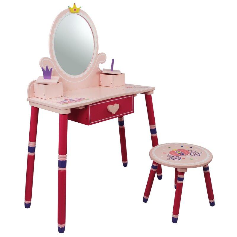 Teamson Kids Princess Vanity Set with Mirror & Reviews | Wayfair
