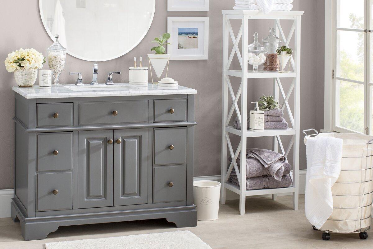 Sets bathroom vanity ari kitchen second - Chela 42 Single Bathroom Vanity Set