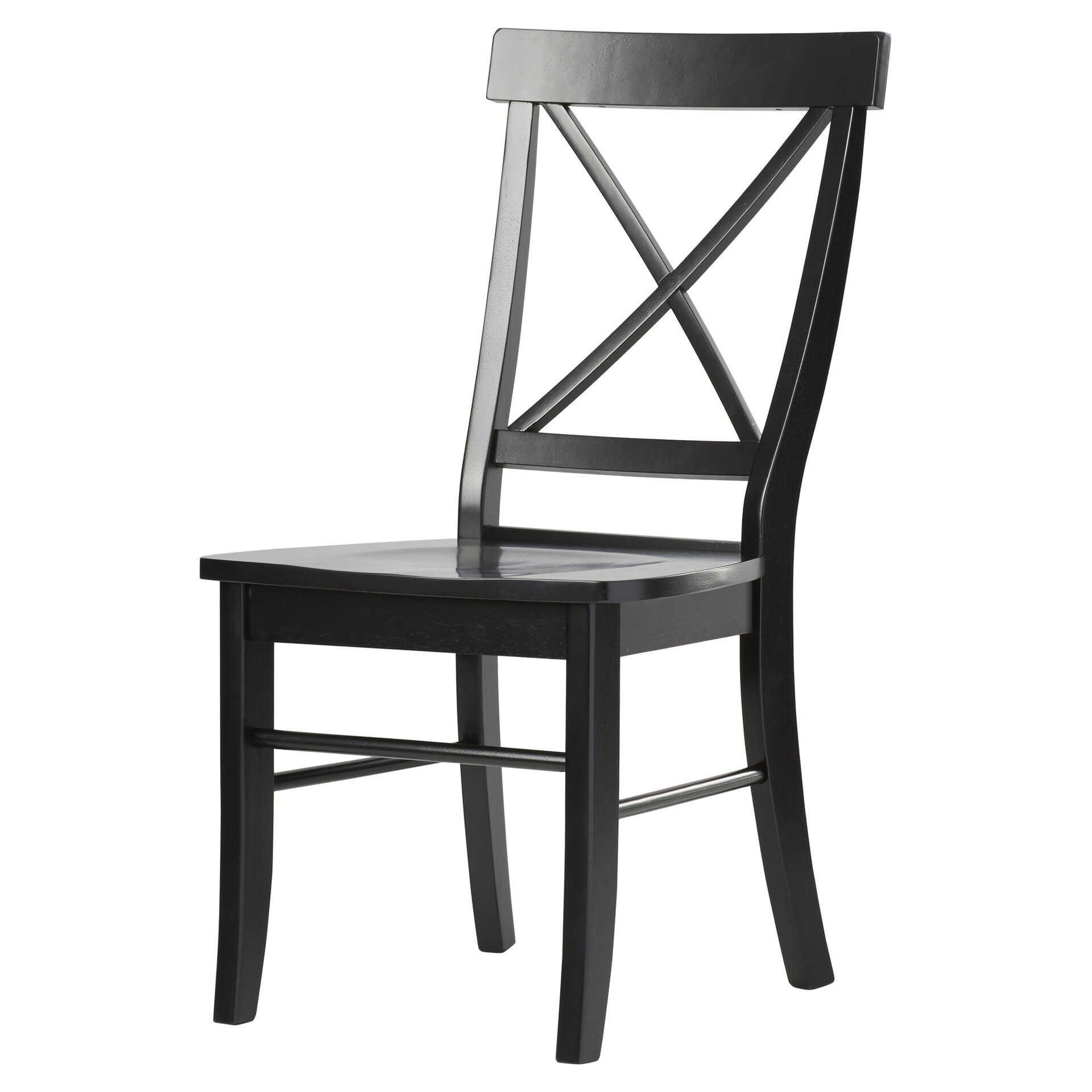 high back wooden dining chairs wayfair