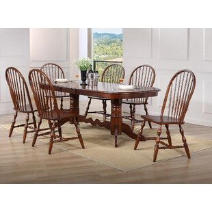 Lockwood Double Pedestal Extension 7 Piece Dining Set