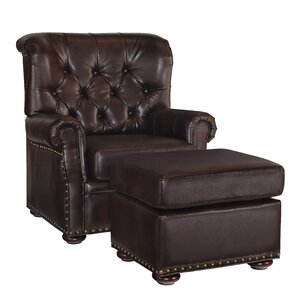 Stationary Club Chair And Ottoman by Home St..