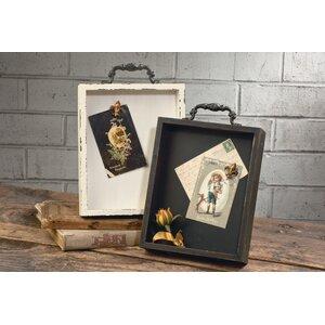 2 Piece Shabby Elegance Wall Mounted Bulletin Board Set (Set of 2)