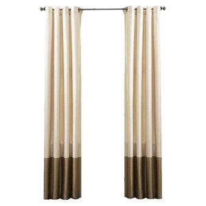 Lucille Solid Blackout Grommet Curtain Panels (Set of 2)