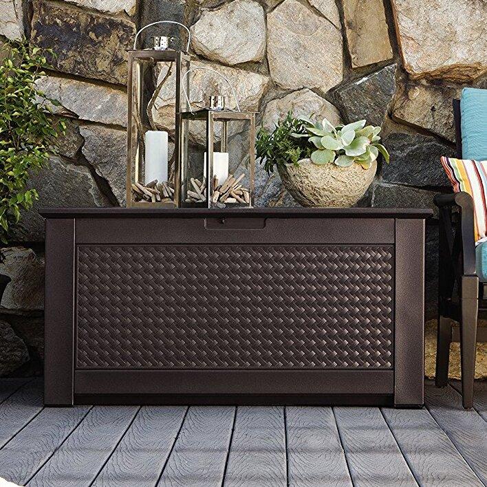 Patio Chic 93 Gallon Resin Deck Box