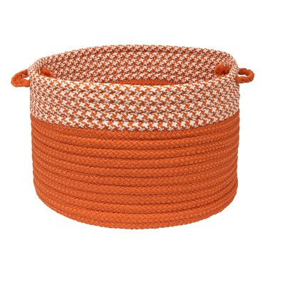 Brayden Studio Ariadne Dipped Basket Size: 10 H x 14 W x 14 D, Color: Orange