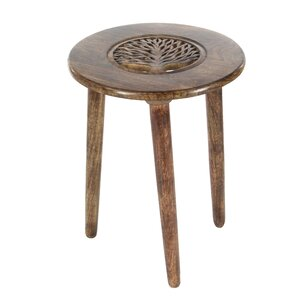 Wood Tripod Round End Table