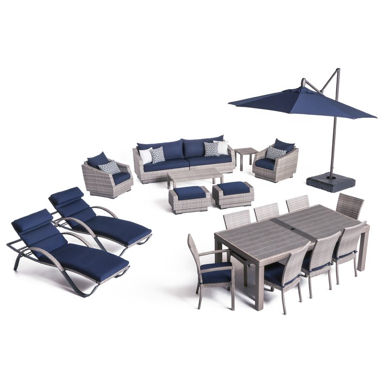 Castelli Patio 20 Piece Sofa Set With Cushions Amp Reviews