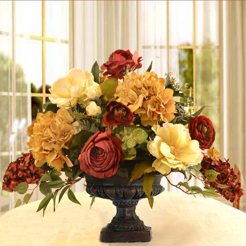 Elegant Silk Flower Arrangement