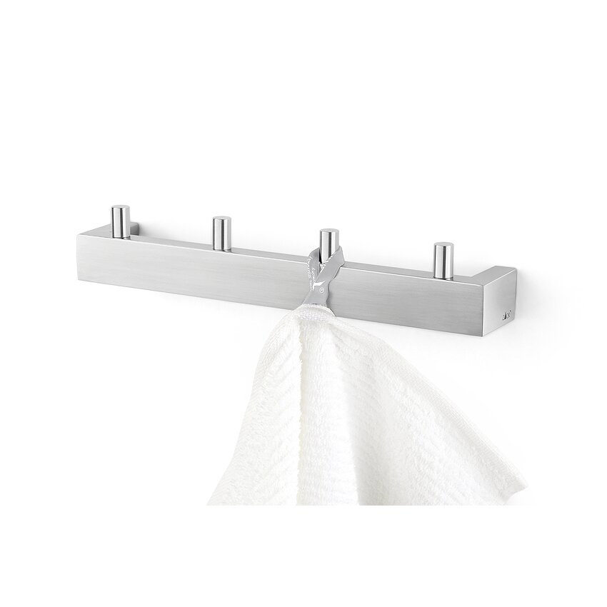 Zack Bathroom Fixtures zack bathroom accessories wall mounted towel hook & reviews | wayfair