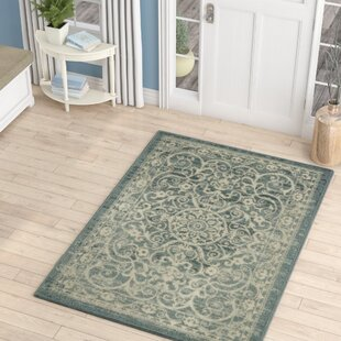 Landen Turquoise Ivory Area Rug