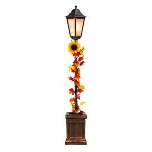 Wooden light post Dock Gustavo Harvest 48 Indoor Street Lamp Post Wayfair