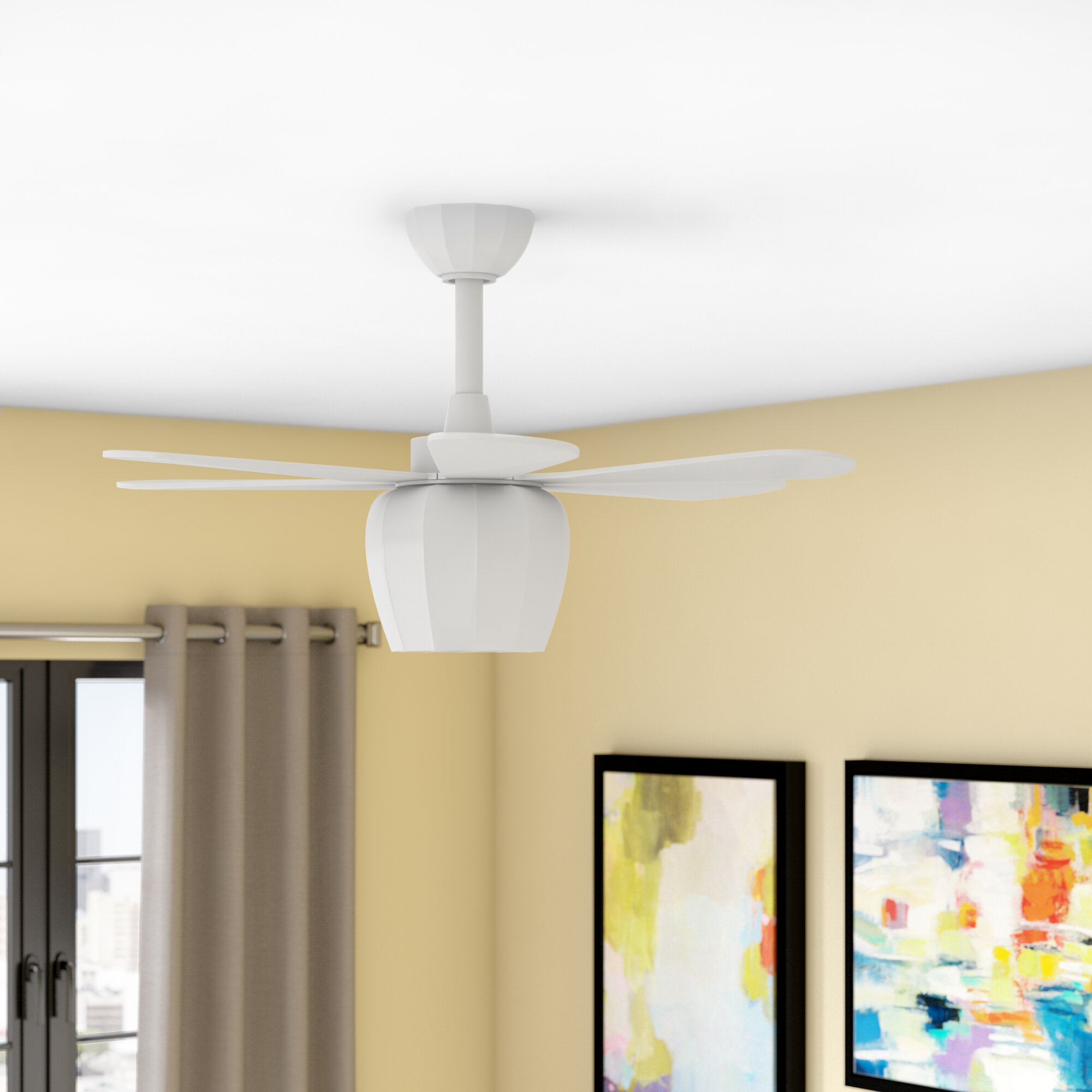 Wrought Studio 36 Hickman 6 Blade Ceiling Fan With Remote Reviews Wayfair