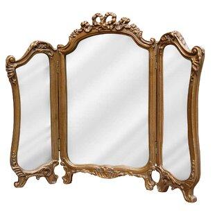 Genial Tri Fold Vanity Mirror | Wayfair