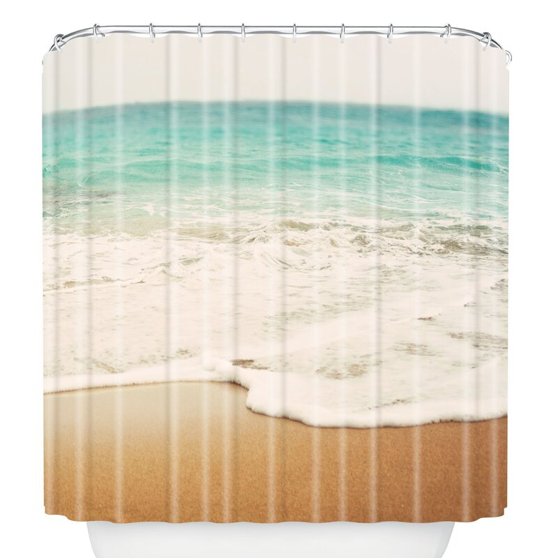 East Urban Home Bree Madden Ombre Beach Shower Curtain | Wayfair