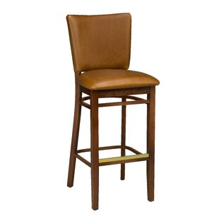 Beechwood Upholstered Seat Bar Stool