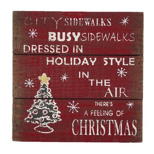 'There is a Feeling of Christmas' Graphic Art Plaque