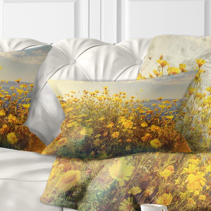 Magnificent Wild Flowers Meadow Lumbar Pillow Short Links Chair Design For Home Short Linksinfo