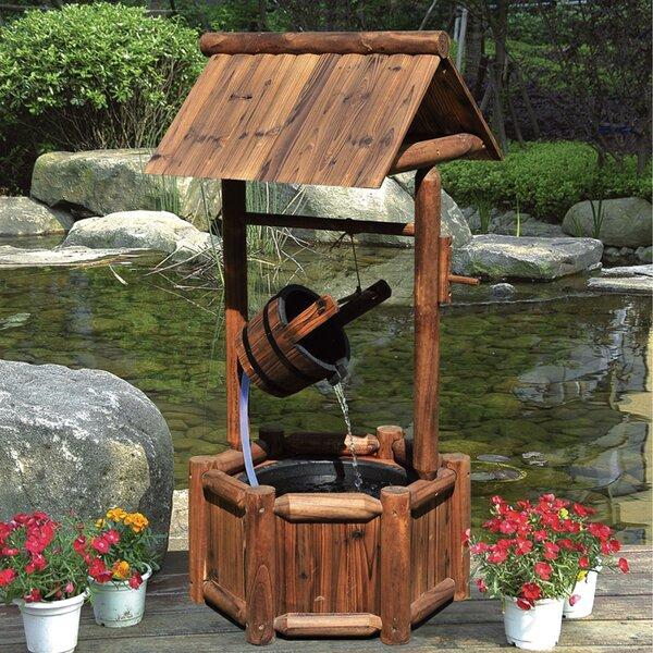 outdoor wooden wishing well wayfair. Black Bedroom Furniture Sets. Home Design Ideas