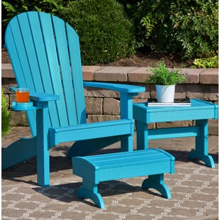 Kells 3 Piece Plastic Adirondack Chair Set