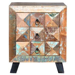 Nachttisch mit 3 Schubladen von Home Loft Concept