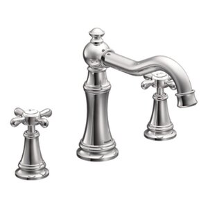 Weymouth Two Handle High Arc Roman Tub Faucet with Cross Handles