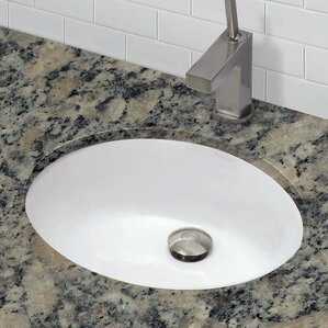 carlyn classic oval undermount bathroom sink with overflow