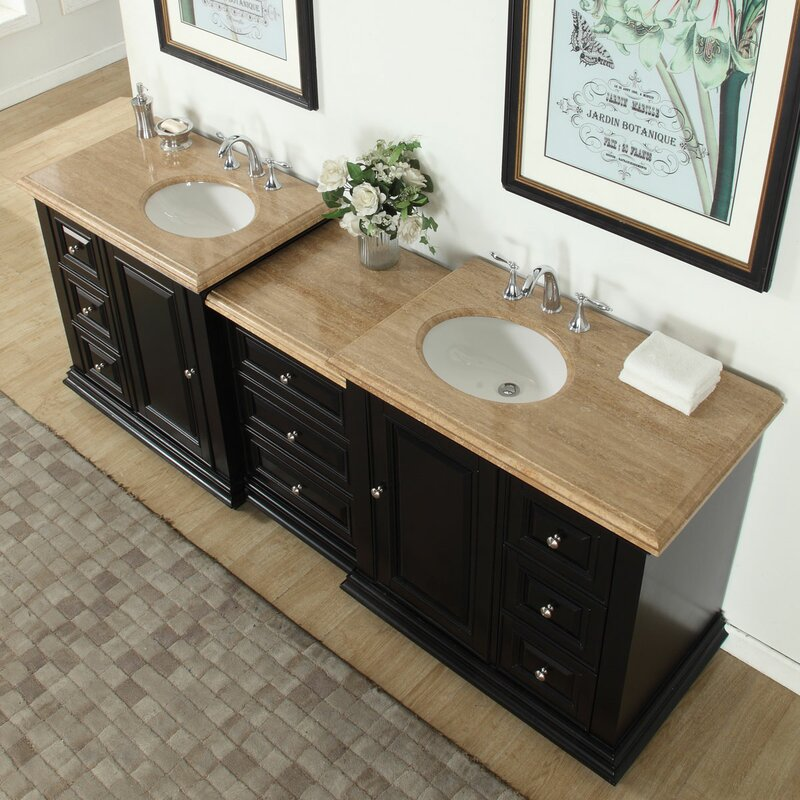5 Double Sink Vanity W Double Bath Vanity In Antique Light