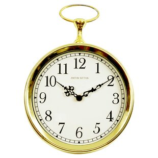 Large Pocket Watch Wall Clock Wayfair