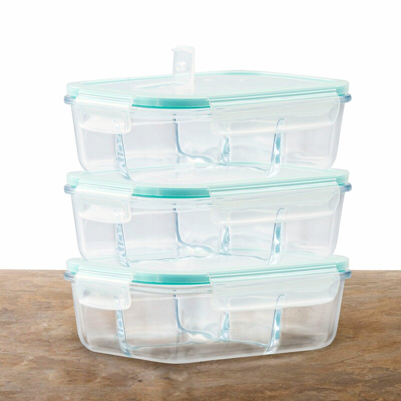 Rebrilliant Glass Meal Prep 51 Oz Food Storage Container Wayfair