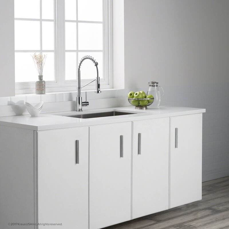 Mayton Single Handle Pull Out Kitchen Faucet & Reviews | Joss & Main