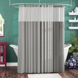 71309853604 Shower Curtain With Snap Liner | Wayfair